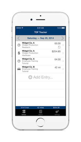 time mileage expense tracking for iphone ipad tdf tracker